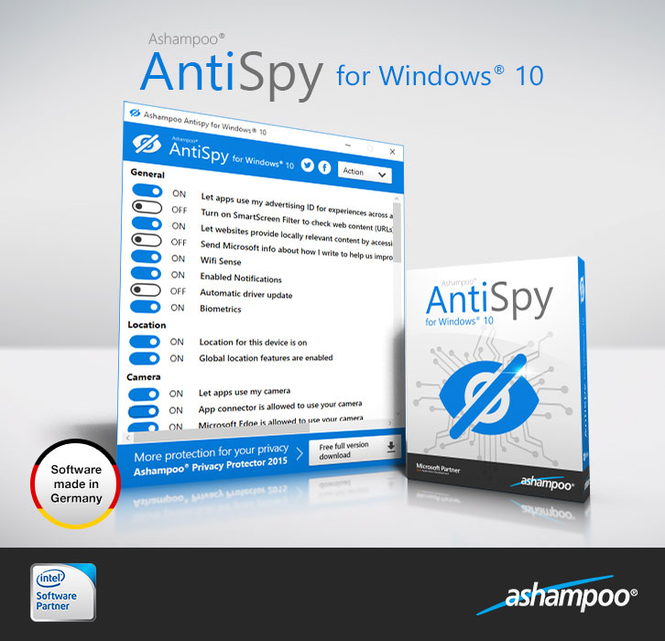 Ashampoo Antispy for Windows 10 Screenshot 2