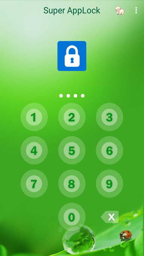 AppLock Theme Green Screenshot 1