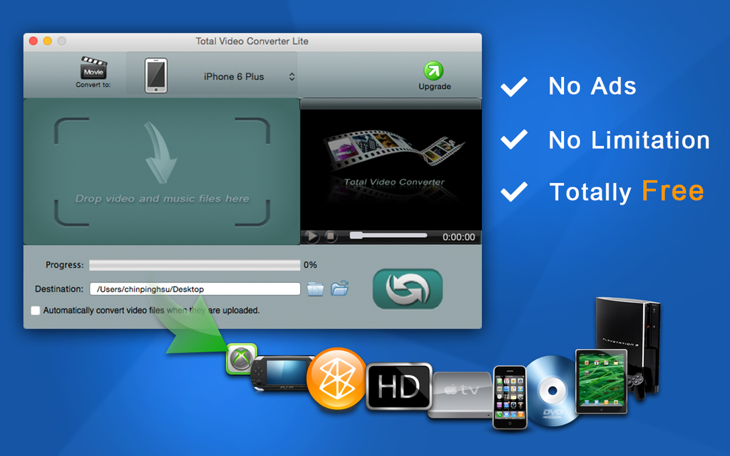 Total Video Converter Lite for Mac Screenshot
