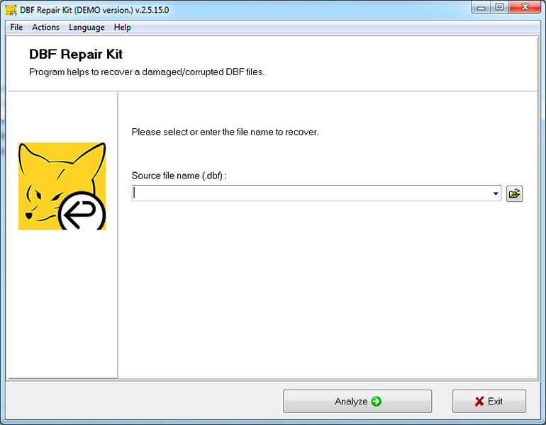 DBF Repair Kit Screenshot 1