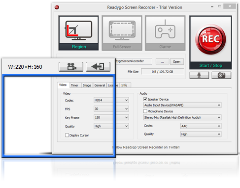 Readygo Screen Recorder Screenshot