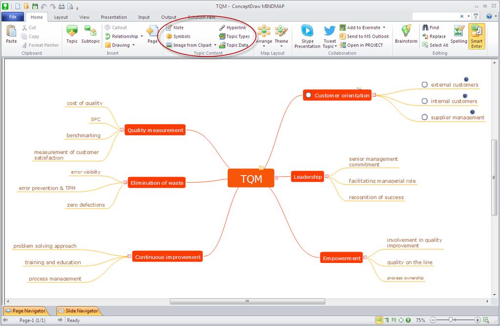 ConceptDraw MINDMAP Screenshot 2
