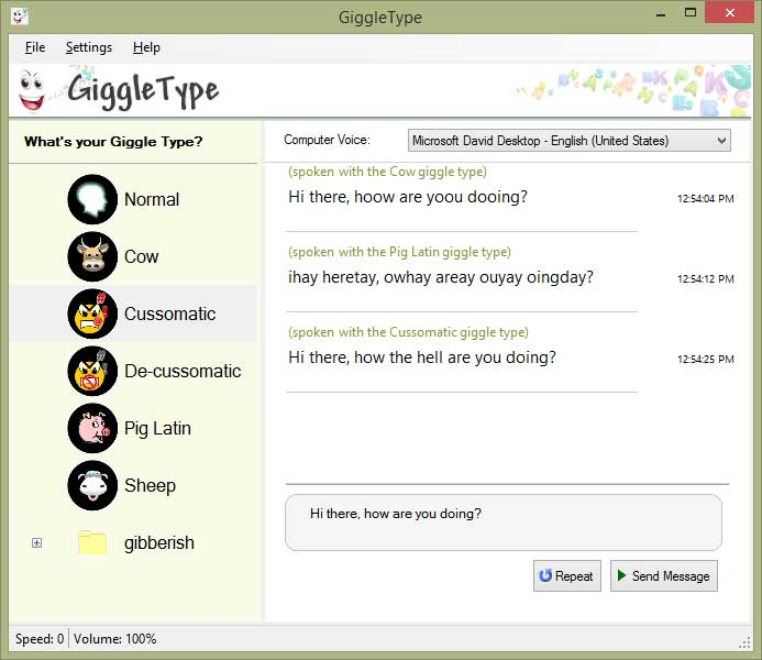 GiggleType Screenshot