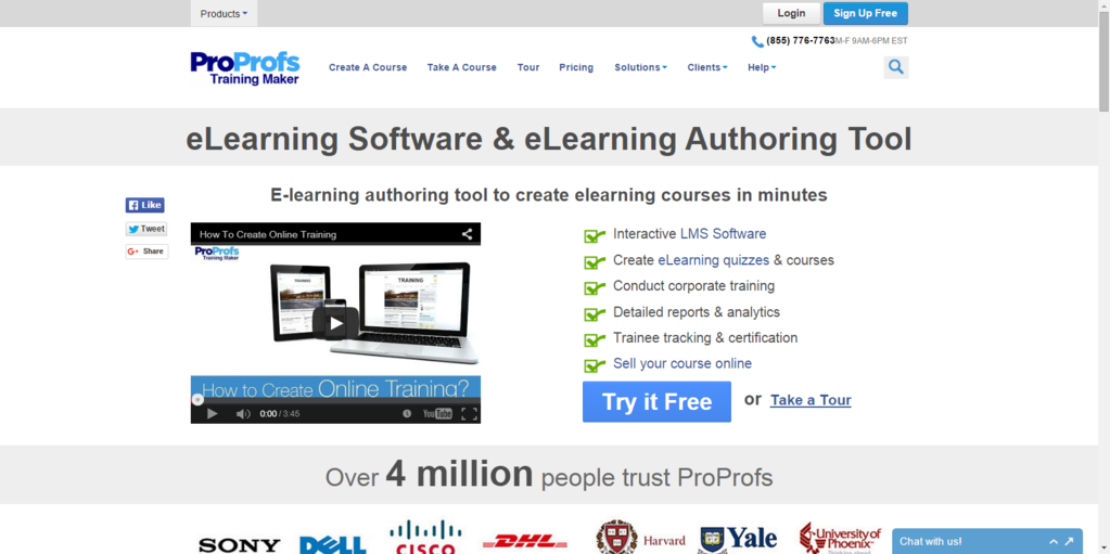 ProProfs eLearning Software Screenshot 1