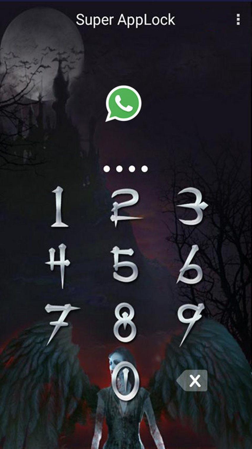 AppLock Theme Vampire FullMoon Screenshot