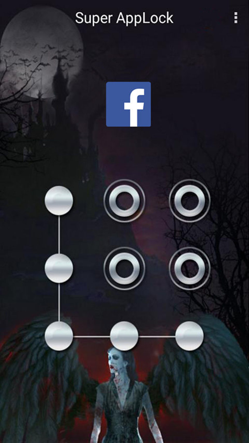 AppLock Theme Vampire FullMoon Screenshot 5