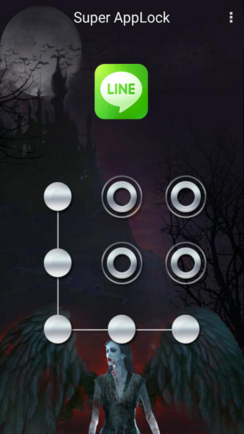 AppLock Theme Vampire FullMoon Screenshot 4