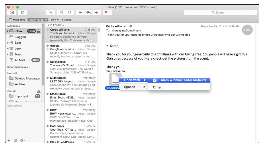 Cisdem WinmailReader for Mac Screenshot 3