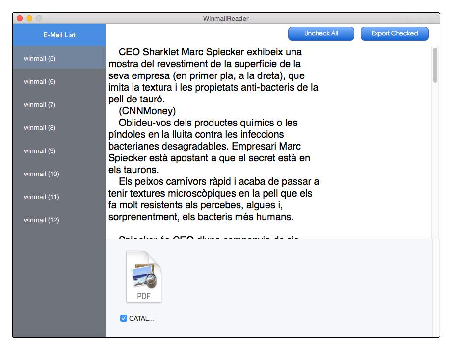 Cisdem WinmailReader for Mac Screenshot 2