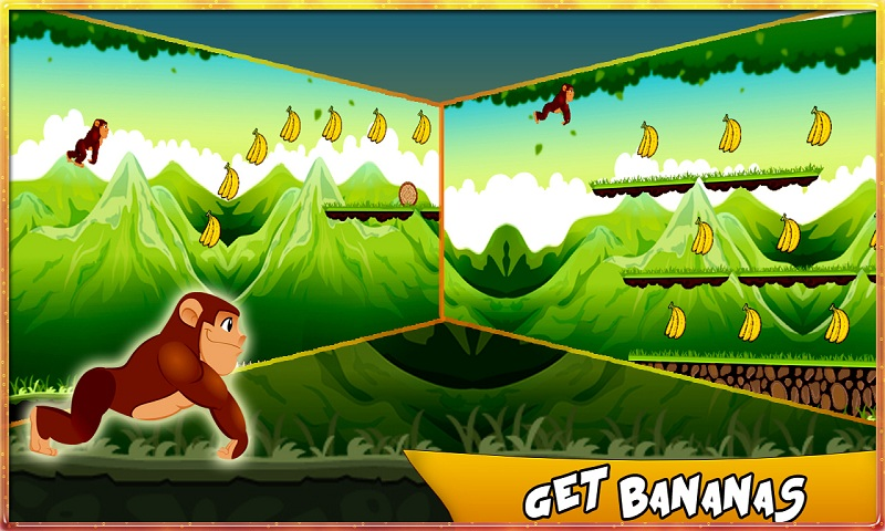 Bananas Island : Monkey Run Screenshot 2