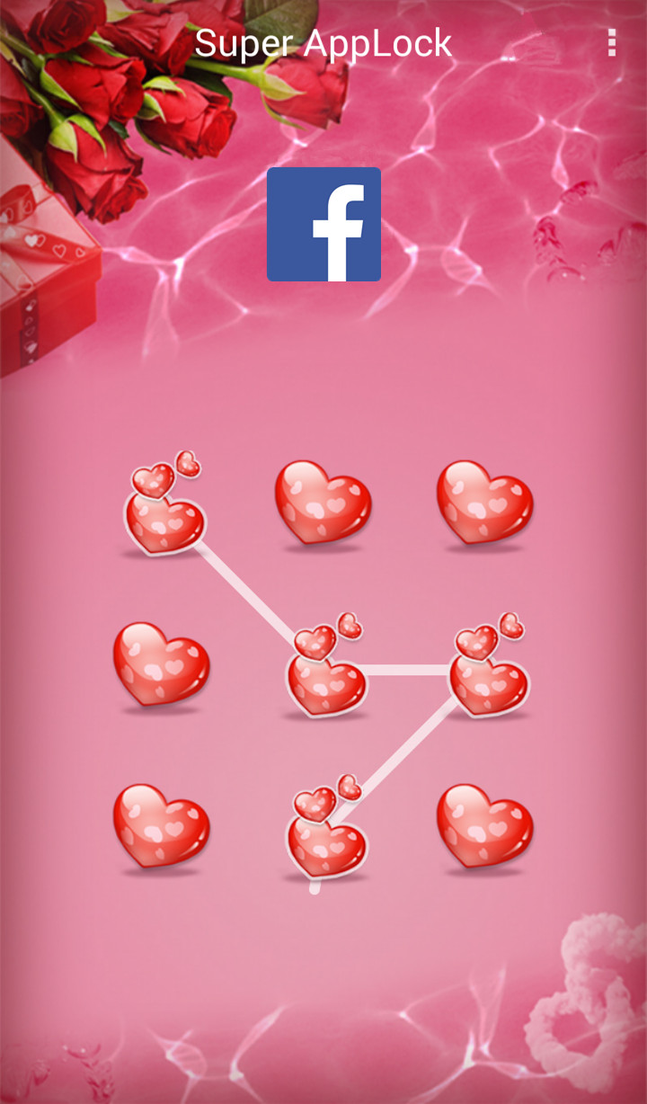 AppLock Theme Valentine Rose Screenshot 2