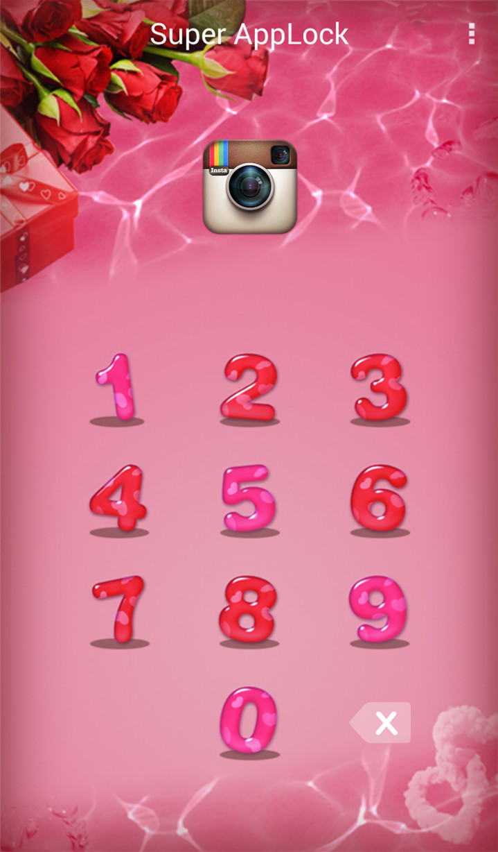 AppLock Theme Valentine Rose Screenshot