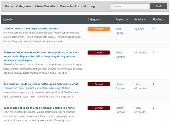 PHP Forum Script Screenshot