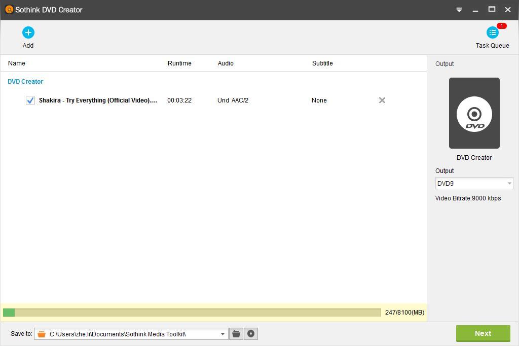 Sothink DVD Creator Screenshot 3