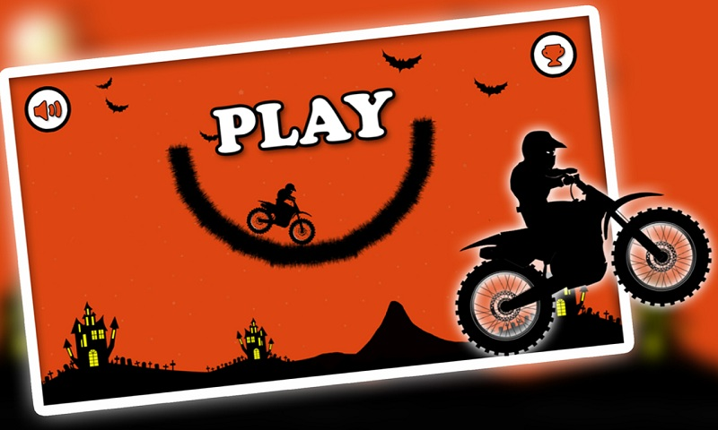 Free Moto Racer Halloween Town Screenshot 1