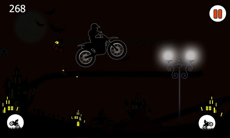 Free Moto Racer Halloween Town Screenshot 4