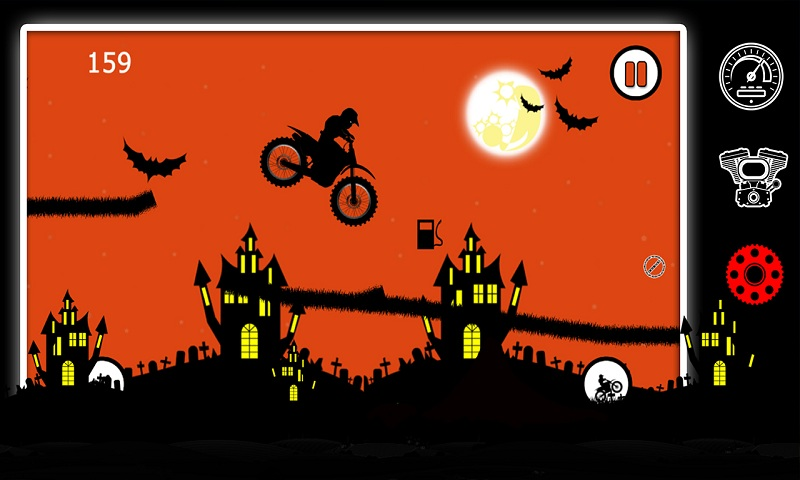 Free Moto Racer Halloween Town Screenshot 3
