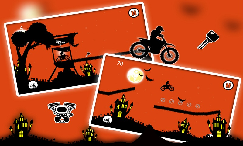 Free Moto Racer Halloween Town Screenshot 2