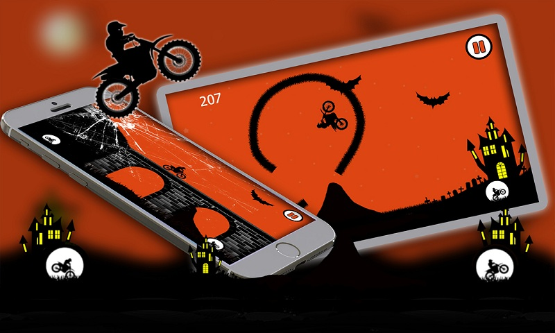 Free Moto Racer Halloween Town Screenshot 5