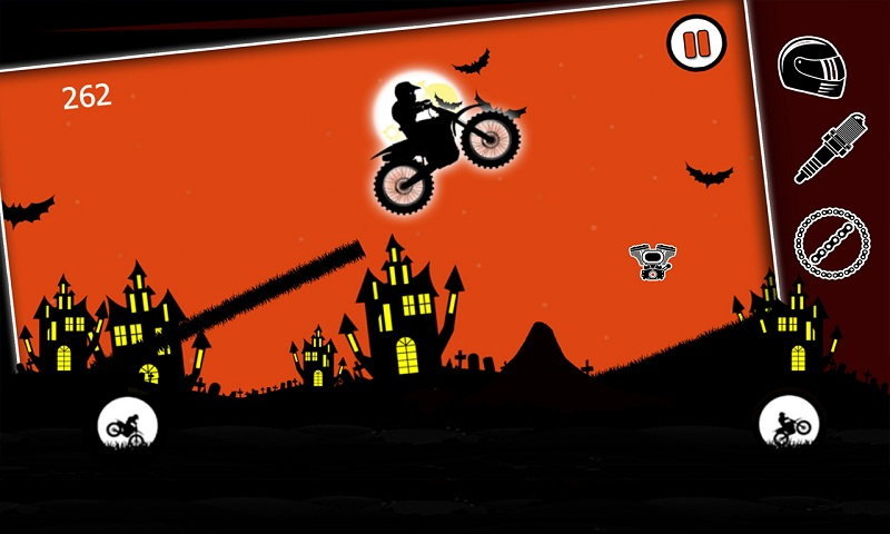 Free Moto Racer Halloween Town Screenshot 6