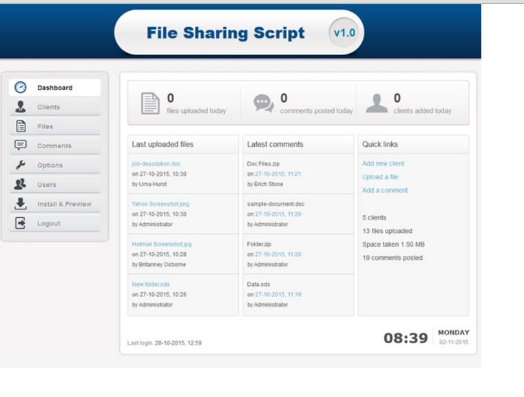 File Sharing Script Screenshot 7