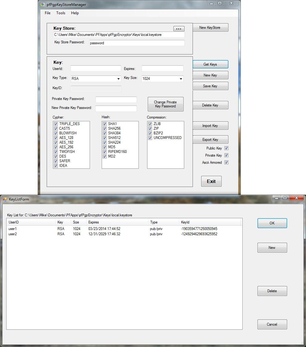 pfPgpEncryptor Screenshot 4