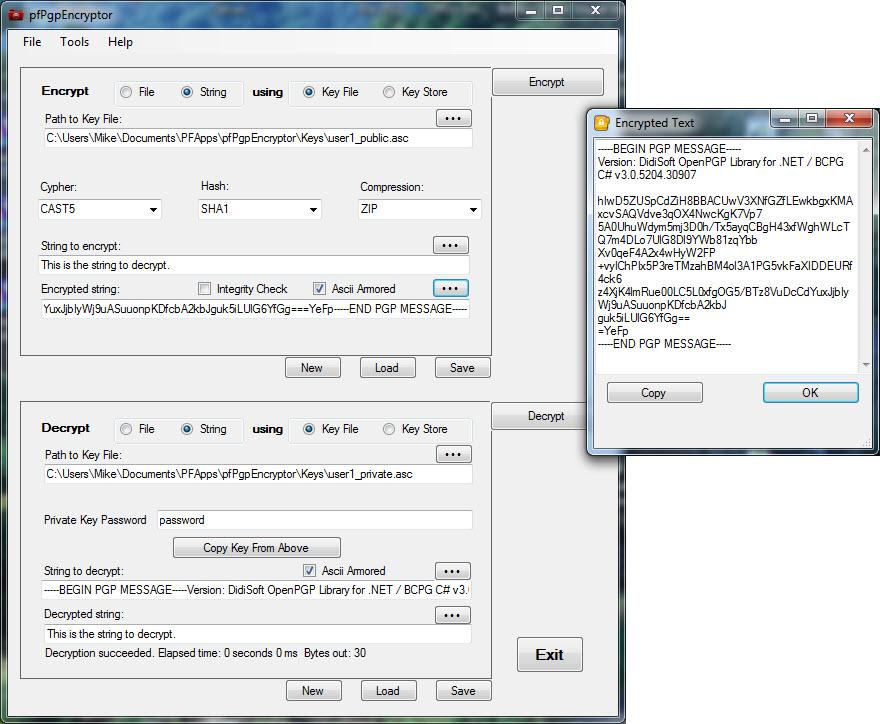 pfPgpEncryptor Screenshot 3