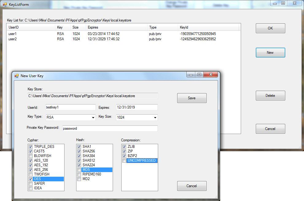 pfPgpEncryptor Screenshot 5