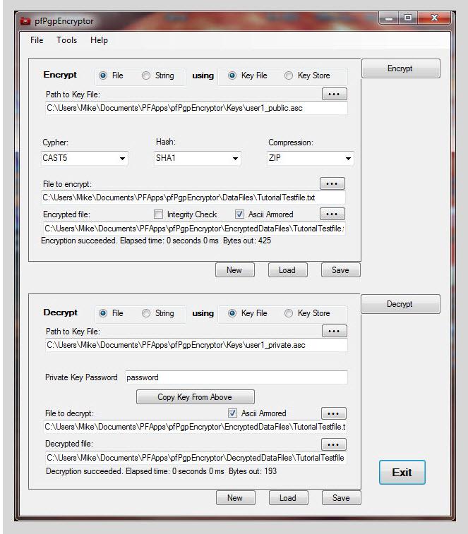 pfPgpEncryptor Screenshot 2