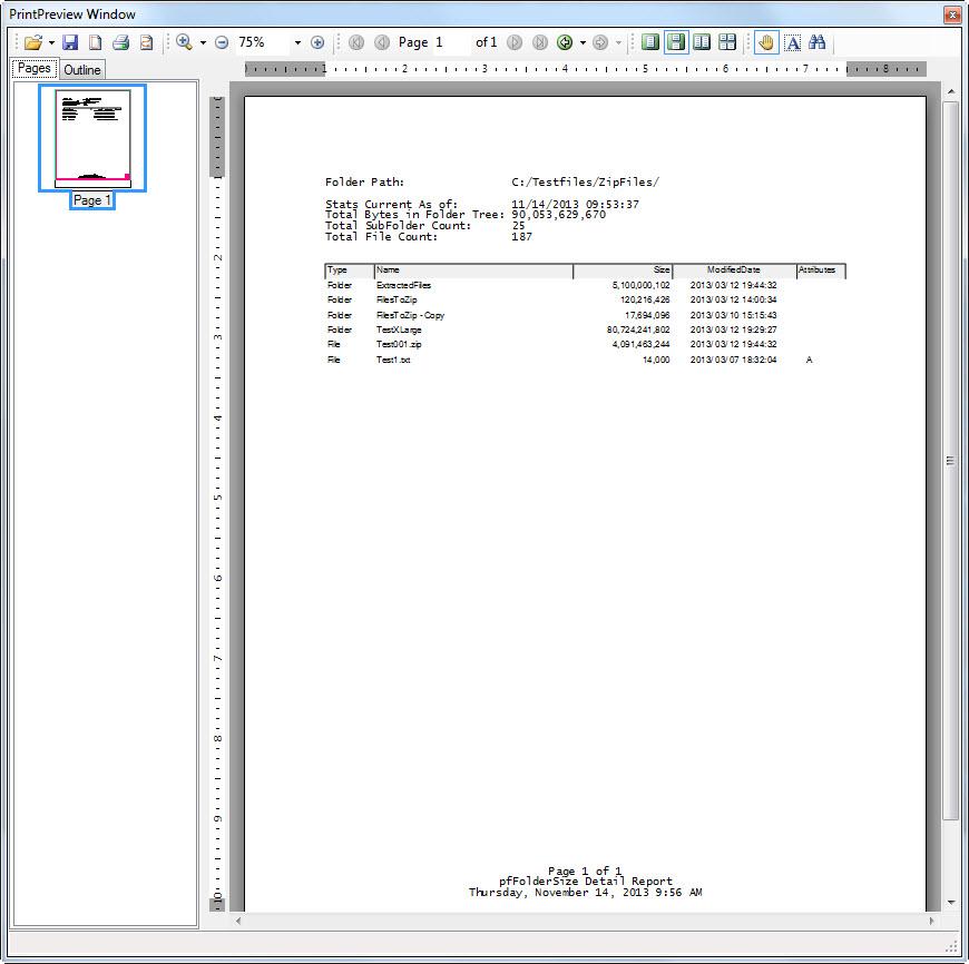 pfFolderSize Screenshot 2