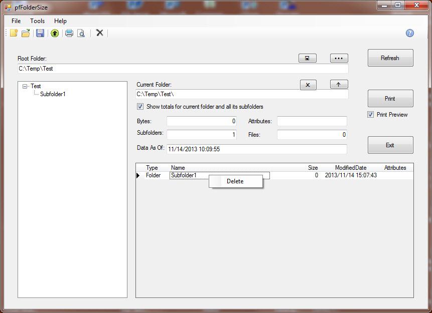 pfFolderSize Screenshot 4