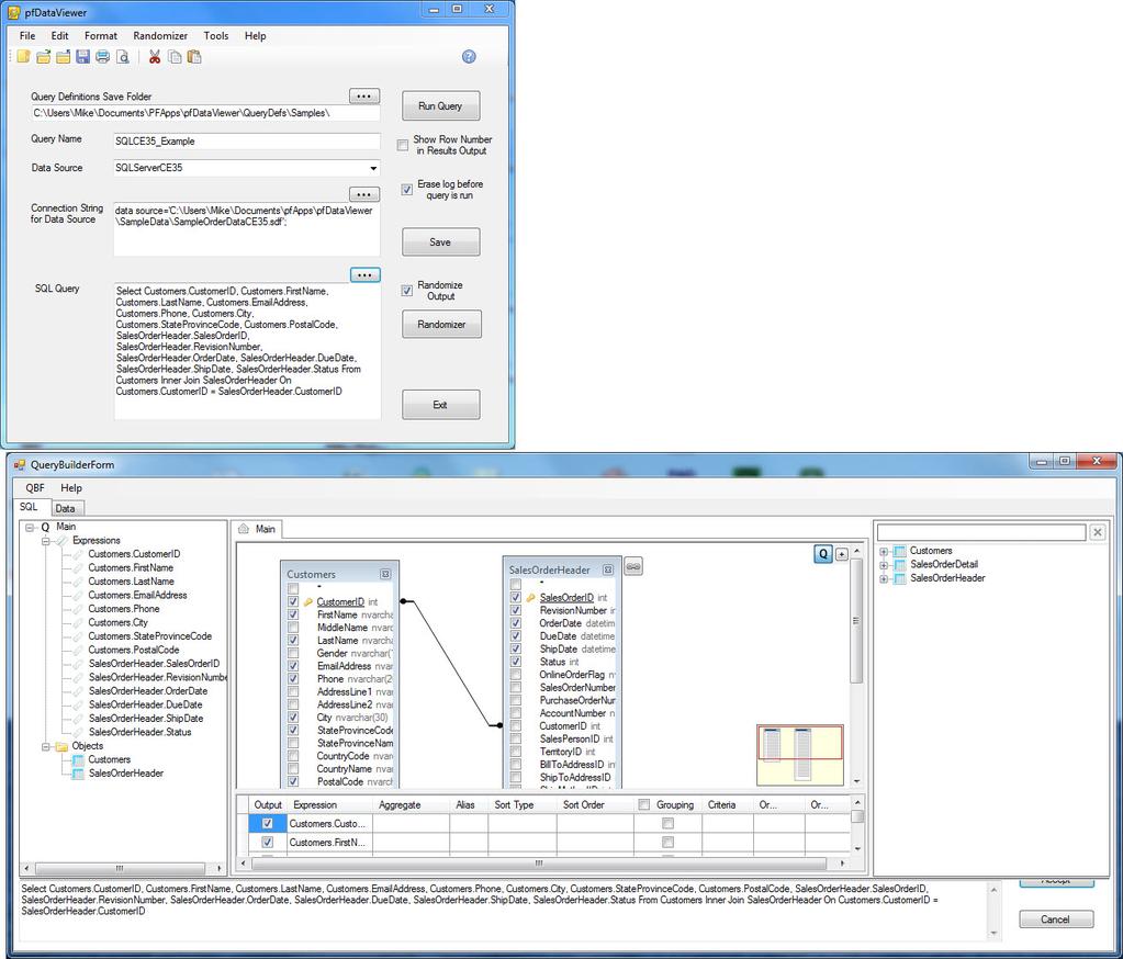 pfDataViewer Screenshot 2