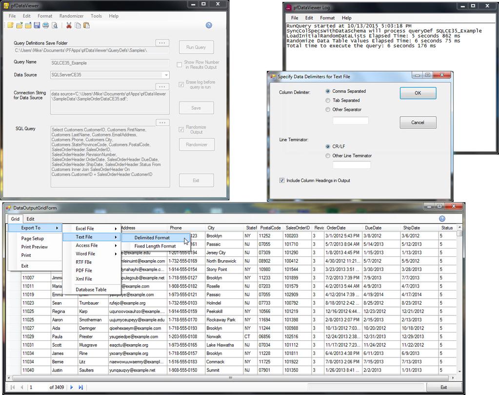 pfDataViewer Screenshot 3