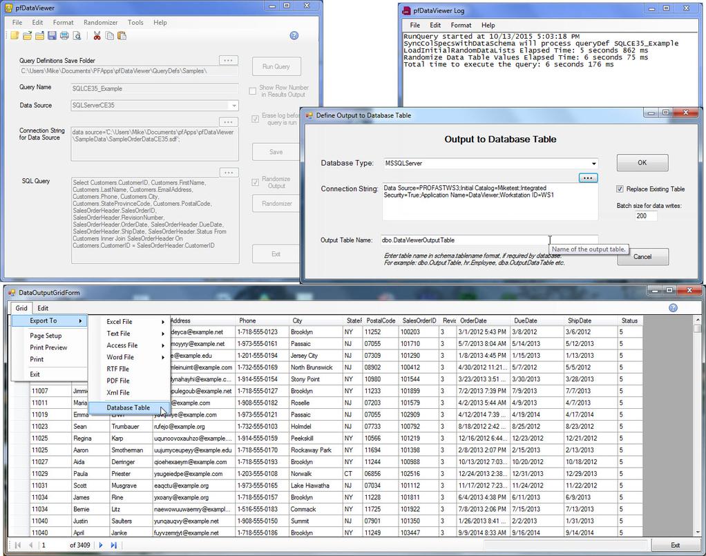 pfDataViewer Screenshot 4