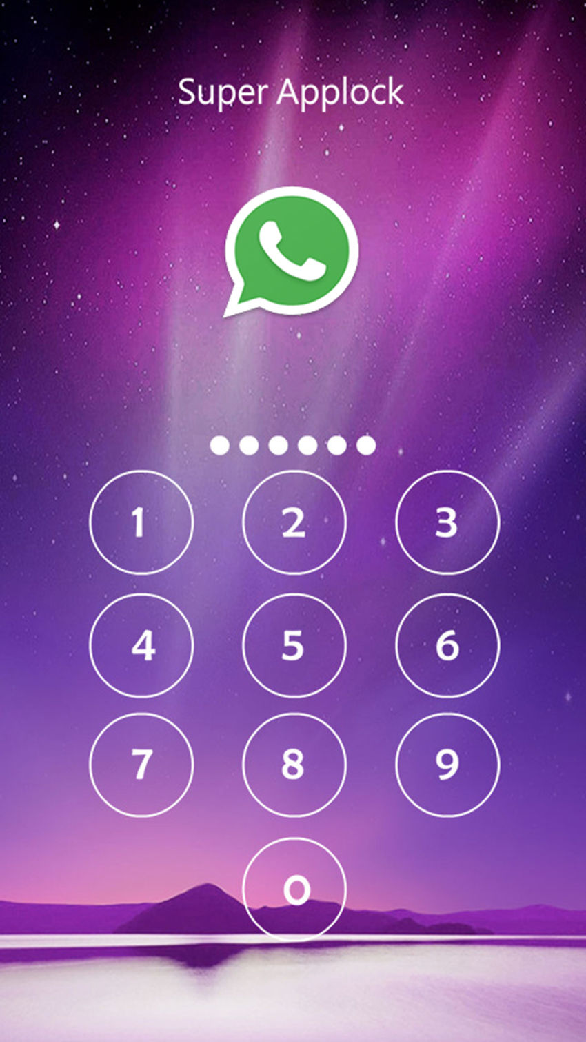 AppLock Theme Aurora Screenshot 1