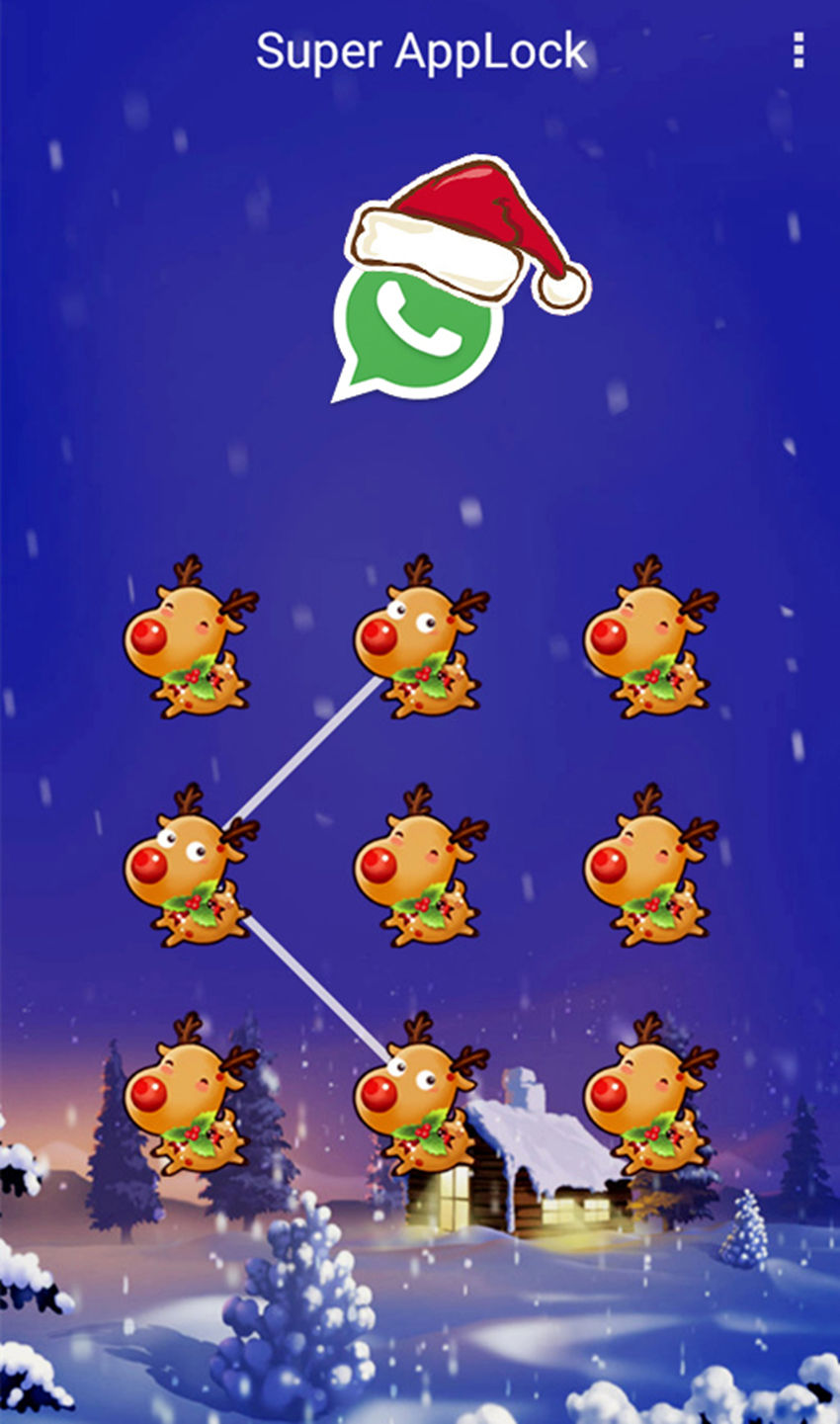 AppLock Theme Christmas Screenshot 2