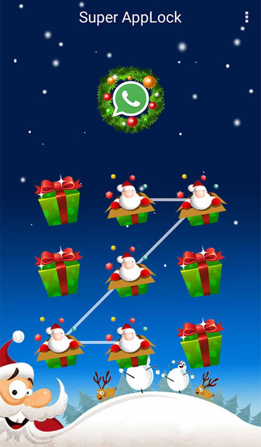 AppLock Theme Xmas Gift Wish Screenshot 2