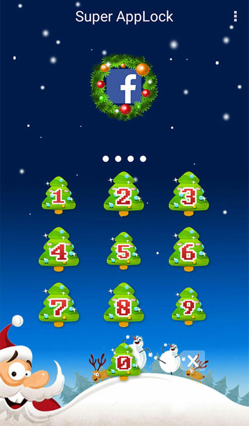 AppLock Theme Xmas Gift Wish Screenshot 1
