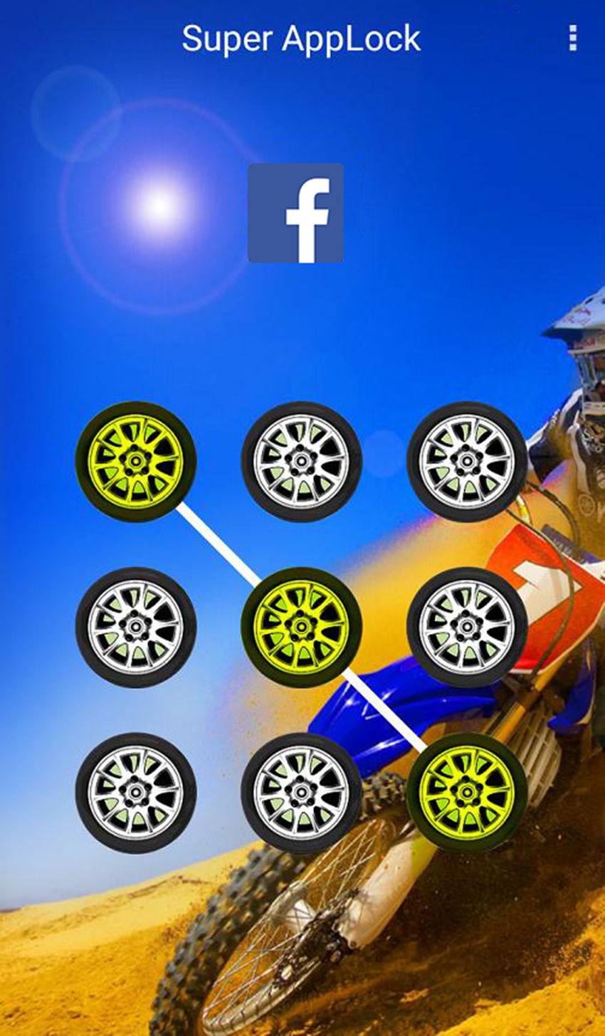 AppLock Theme Motocross Race Screenshot