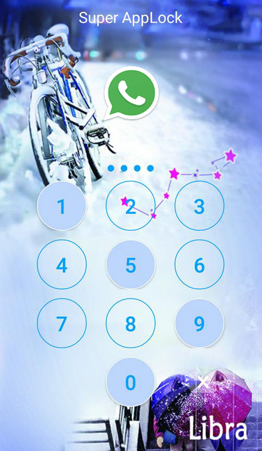 AppLock Theme Libra Screenshot