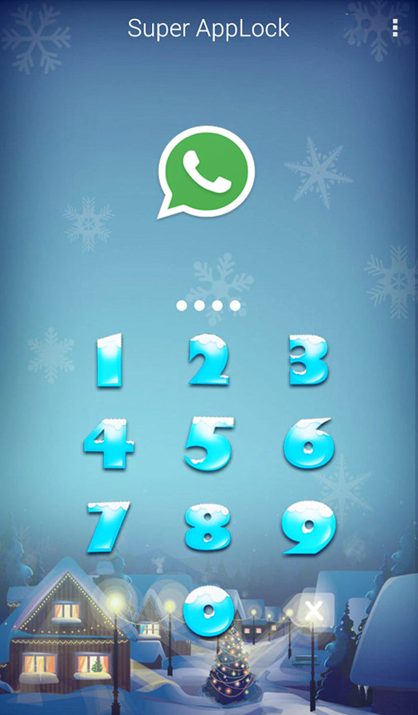 AppLock Theme Snowsky Screenshot