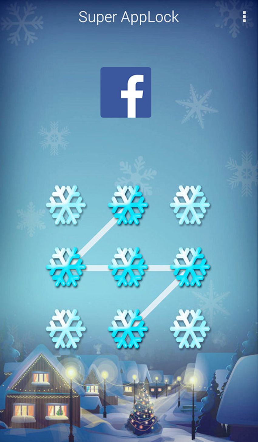 AppLock Theme Snowsky Screenshot 2