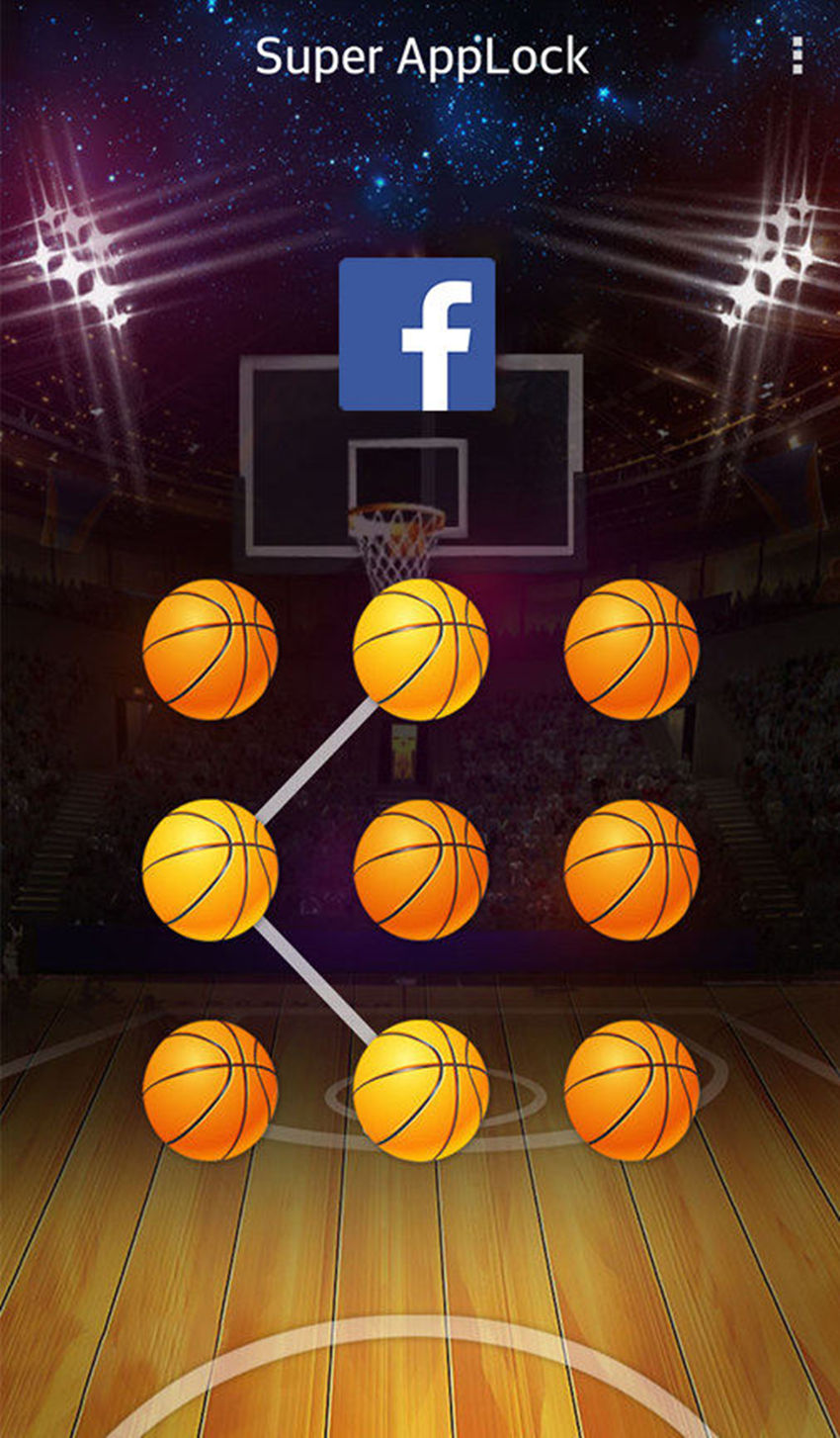 AppLock Theme Basketball Screenshot 2