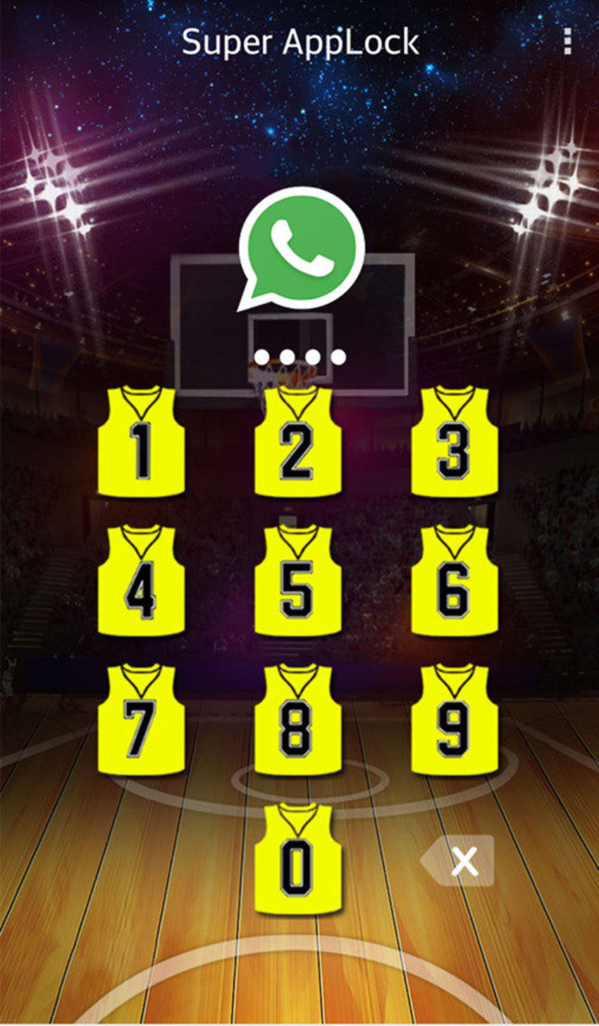 AppLock Theme Basketball Screenshot 1