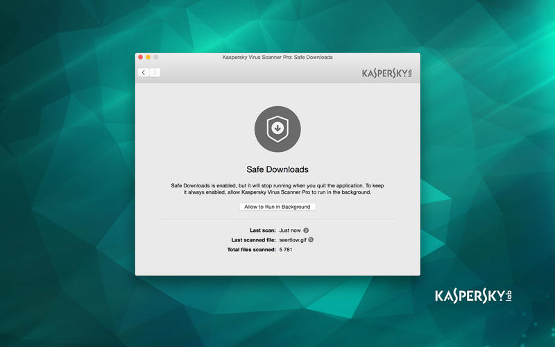 Kaspersky  Virus Scanner for Mac Screenshot 3