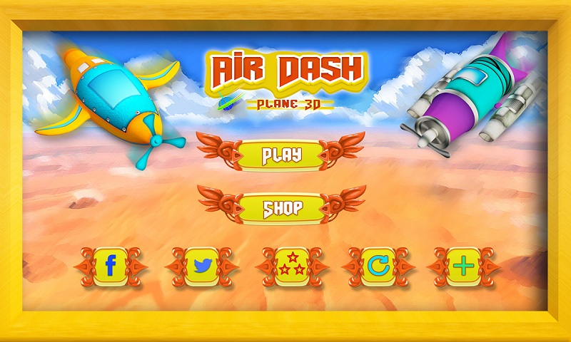 Air Force 3D : Galaxy Dash Screenshot 2