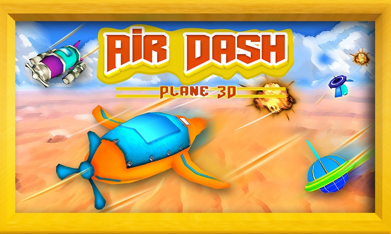 Air Force 3D : Galaxy Dash Screenshot 1