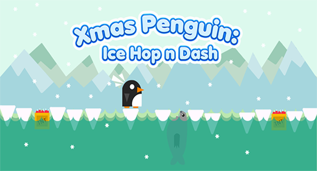 Xmas Penguin:Ice Hop n Dash Screenshot 2