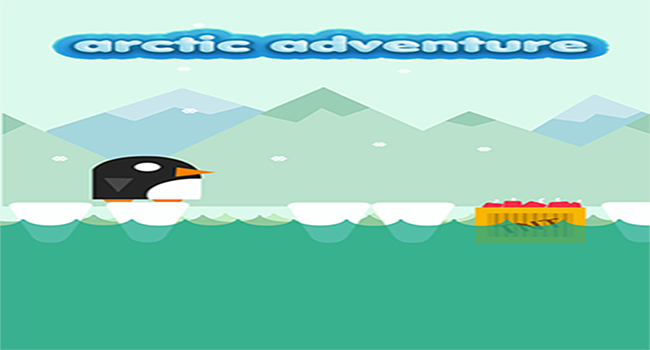 Xmas Penguin:Ice Hop n Dash Screenshot 1