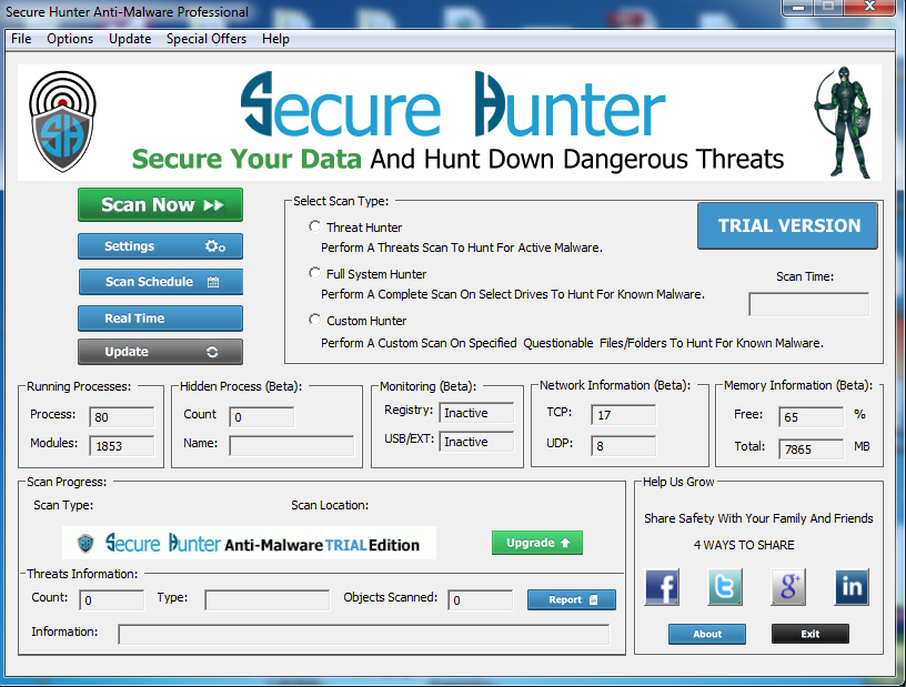 Secure Hunter Anti-Malware Pro Screenshot 2